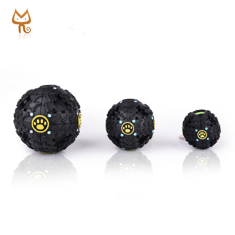 Redhill Black squeaky ball rubber dog toys pet ball-food ball for dogs