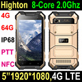 2017 NEW 8-Core Android 7.0 4G mobile phone handhelds Rugged Smartphone with 4+64G with NFC, PTT, SOS waterproof mobile phone