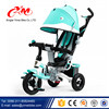 Alibaba Blue wholesale baby tricycle/children tricycle rubber wheels with Anti-slip pedal/comfortable safety rotate seat trike