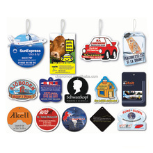 Custom Design OEM Many Fragrance Hanging Paper Car Vent Air Freshener