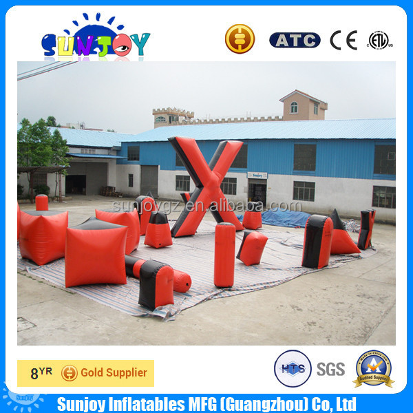 Inflatable x bunker x x, inflatable paintball airsoft bunker