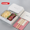 Take-away Smoothwall Aluminium Foil Container/baking plate/beautiful tray With Lid