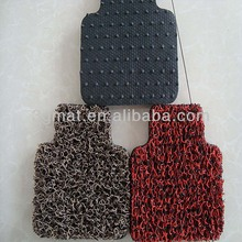 hot sale pvc anti slip car mat cleaning machine with nail backing