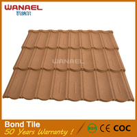 China Supplier Wanael Bond no-fading Metal Lowes Roofing Shingles Prices