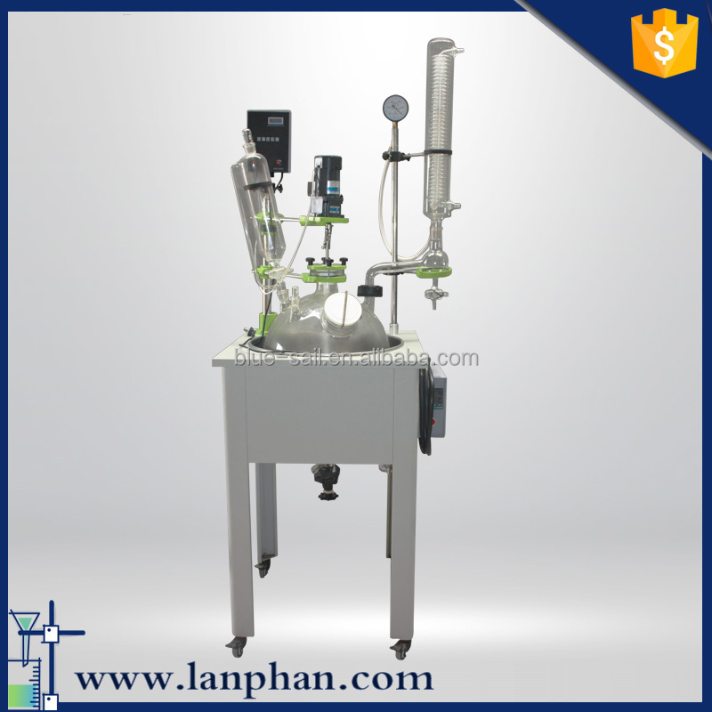 High Quality Borosilicate 50L Glass Reactor for Herbal Extracts