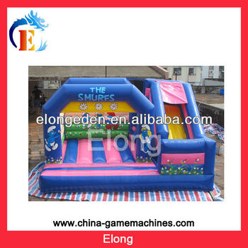 Hot! Out door amusement playground kids trampoline slide inflatable attraction, PVC air bouncer