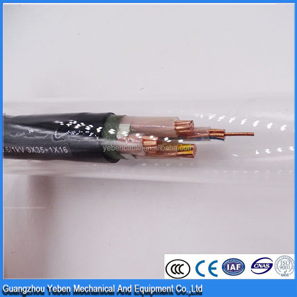 different types of four cores copper conductor electric cable wire 120+70mm2