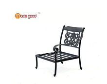 single brass aluminium comfortable outdoor home furnishing fashion chair