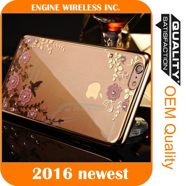 mobile phone shell clear diamond cover bulk case for iphone 5