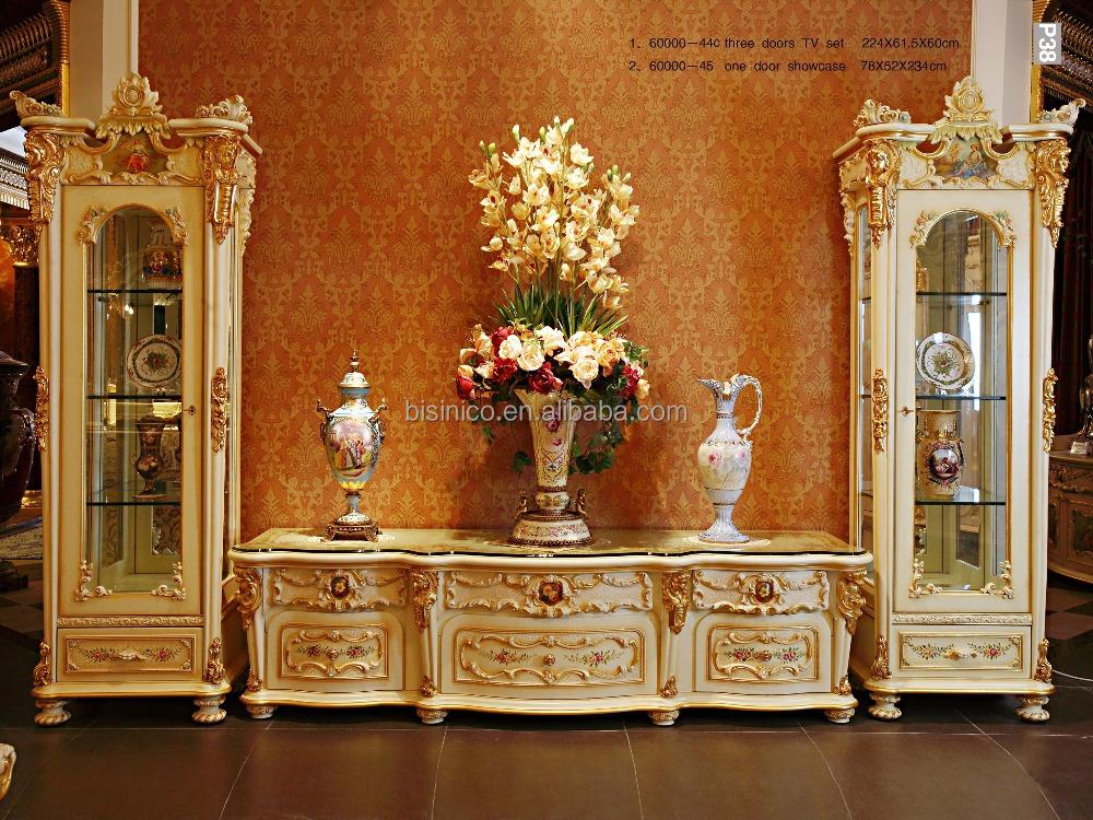 style rococo fran ais bois sculpt double porte coin vitrine palais classique salon peint la. Black Bedroom Furniture Sets. Home Design Ideas