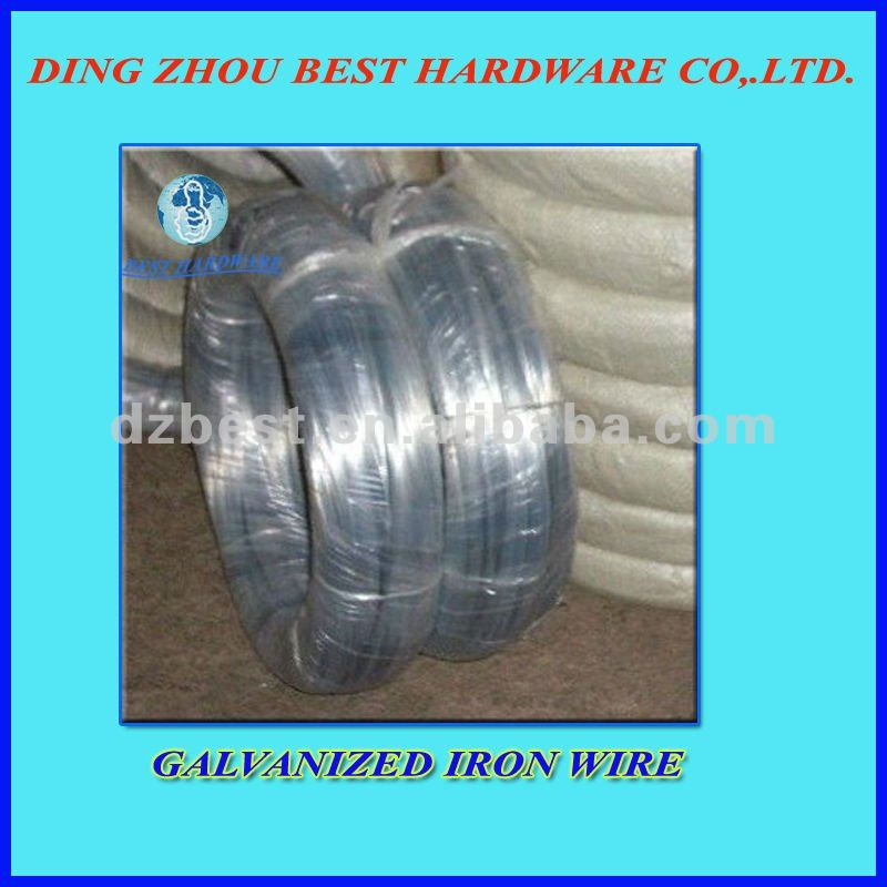 low price hot dipped galvanized iron wire factory