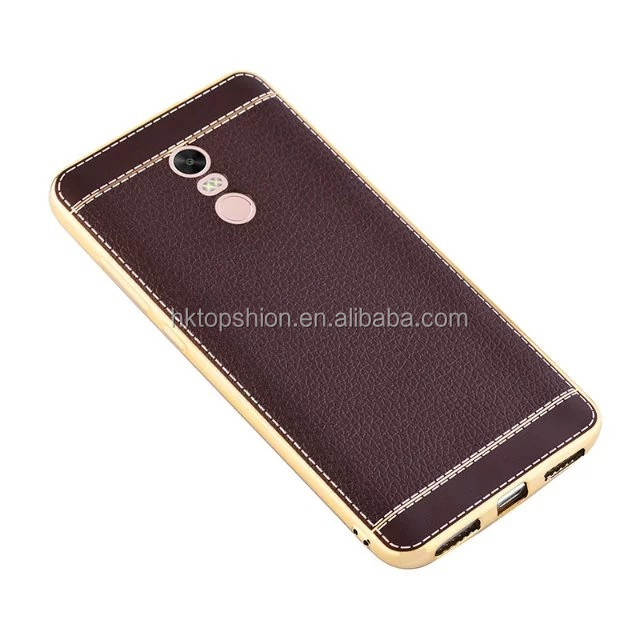 Newest!!! For xiaomi redmi note 4 case back phone cover litchi leather grain tpu case