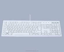 OEM white wired standard chocolate computer keyboard