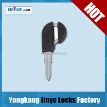 newest durable products metal steel brass nickel plated hotel door motor car blank security lock magnetic key