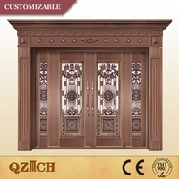 2016 new product aluminum carving fancy entry doors
