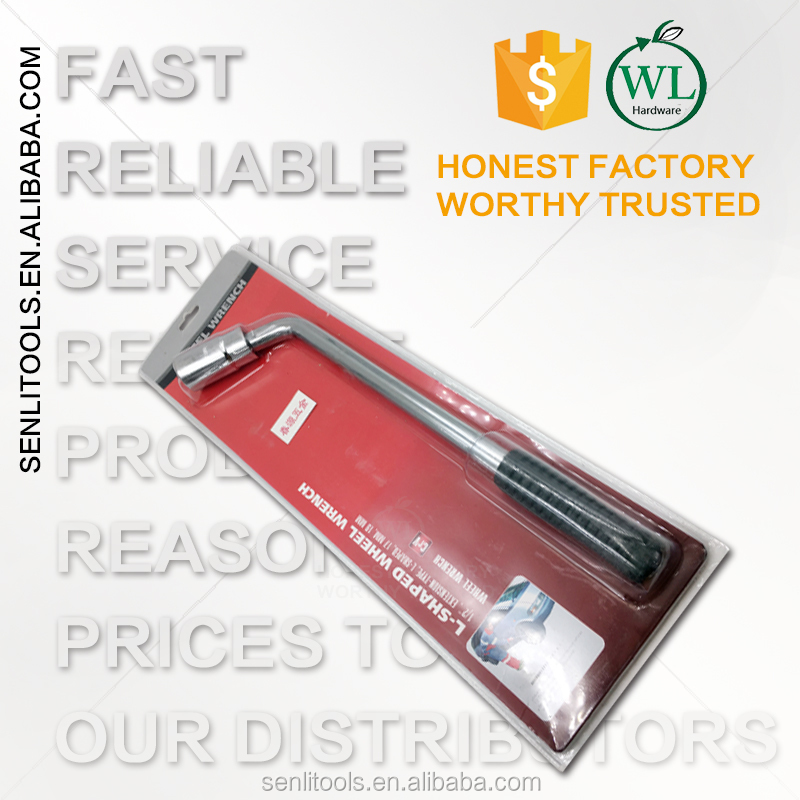 For auto repair maintenance L Type Telescopic Extending tyre Wheel Lug Wrench