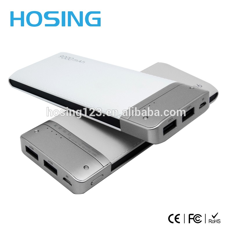 Chinese Factory Price affordable Ultra thin pocket 9000mAh Power Bank full capacity suit for Android/IOS system