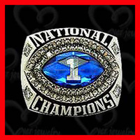Custom sport champions ring with deep engraving letters