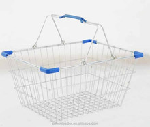 Shopping Baskets Chrome plated Grocery/Market stainless steel shopping basket