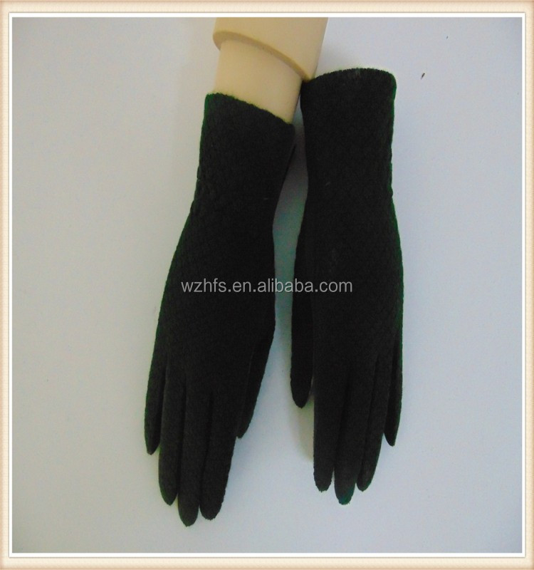 China Suppliers Separated Fives Fingers Houndstooth Fabric Worker Gloves