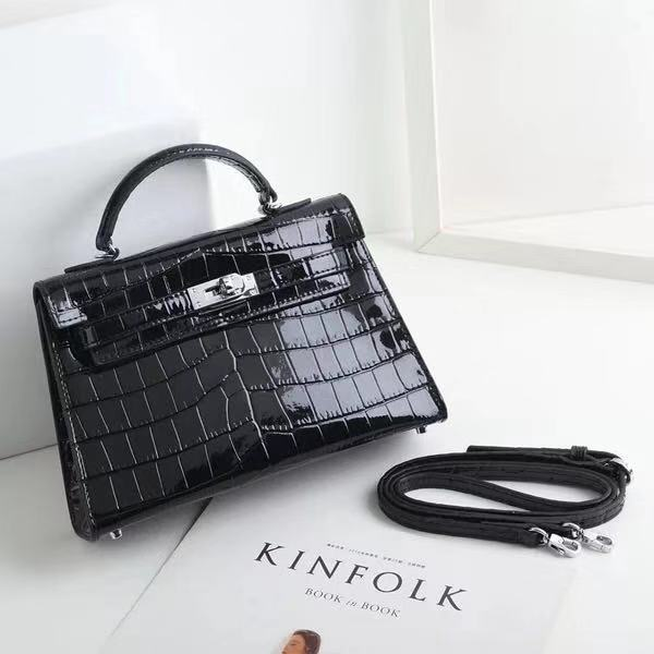2019 China Suppliers Luxury Products Mini Crocodile Bag Genuine Leather Handbag for <strong>Women</strong>