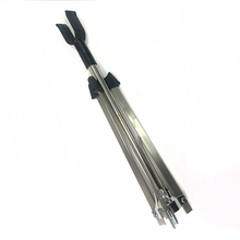 Foldable stainless steel bow stand for holding recurve bow