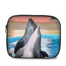 "7 "" lovely dolphin design case waterproof and shockproof tablet pouch for Ipad"