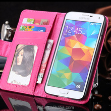 New Arrival Stand Flip Wallet Cover Card Pouch Photo Album PU Leather Case for Samsung Galaxy S5 I9600 RCD03814