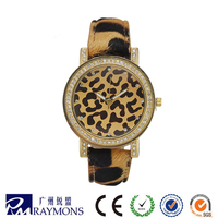 Free Sample Watch Women Brand Leopard Leather Wrist Watch Chinese Wholesale Import Watches