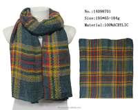 winter warm knit scarf colorful stripes woven plaid scarfs adult couple christmas gifts