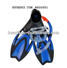 Professional fashion custom durable mask diving fin snorkel