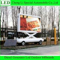 High Quality P8 P10 Luminance Brightness Outdoor Full Color Billboard Trailer Mounted Led Display