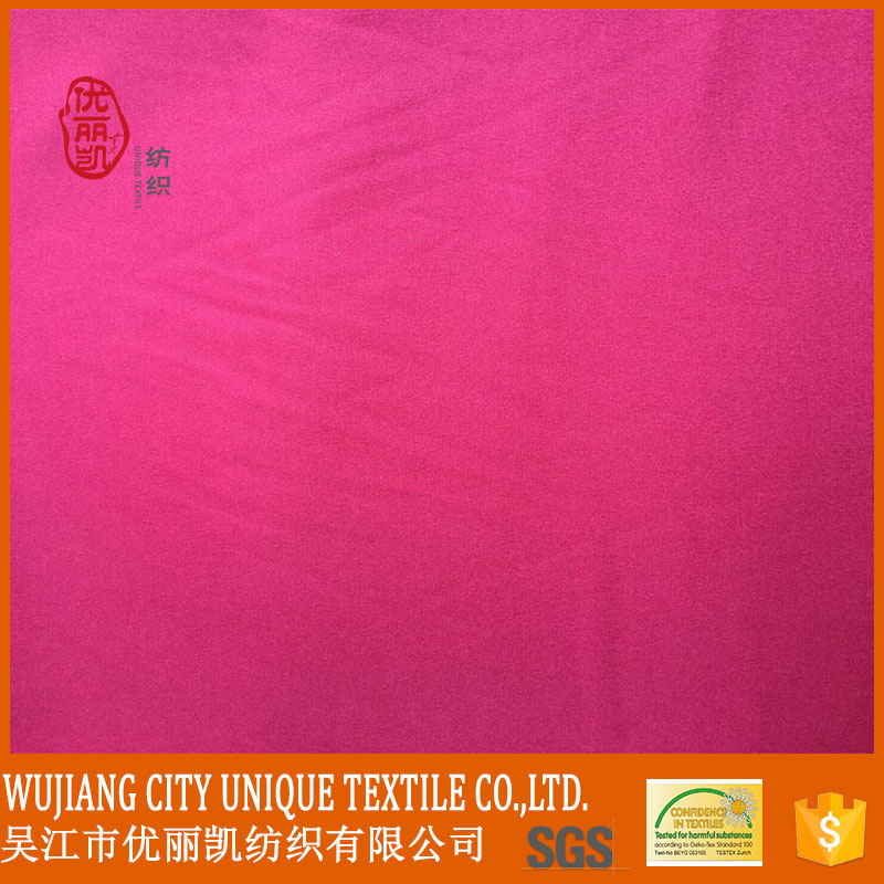 beautiful color 100% polyester microfiber peach skin fabric for dress