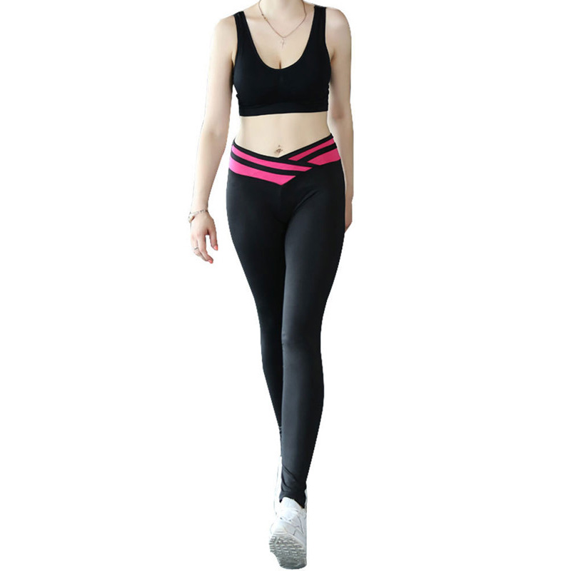 Wholesale new design polyester hot sale black 4size slim fashion ladies sport wear yoga pants