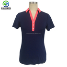 Customized design women New polyester spandex blend stretchable golf shirts polo shirts for women