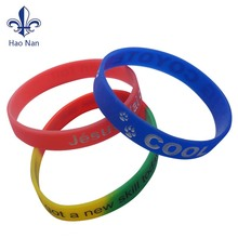 embossed printed wristband rubber wrist band factory wholesale custom silicon bracelet