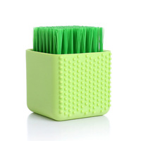 Wholesale high quality household candy color silicone Laundry Brush