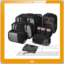 High Quality 7 pcs Packing Cubes Luggage Organizers with Laundry and Shoes Bag