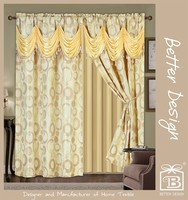 Cheap 2 PCS Luxury Classical Curtains Panel Decorative For Home