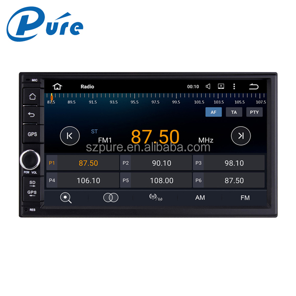 Double din touch screen car stereo gps radio bluetooth player android5.1.1 dvd player for car