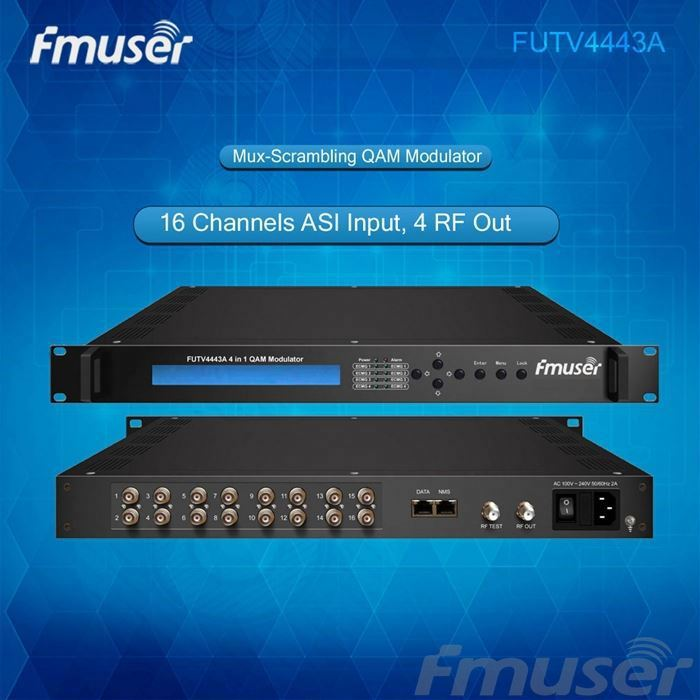 Mux Scrambler Digital RF Modulators for cable tv Mux Scr QAM modulator(6 DVB-S2 tuner,4 ASI input,4 RF) lanyue