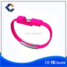 Made in ShenZhen colorful mobile phone bracelet data charging line