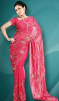 Attractive Beaded Holi Saree