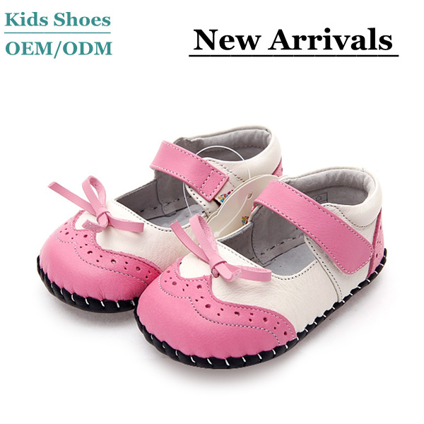 Lamb Skin Leather Beautiful Fancy Baby Girls Shoes Factory