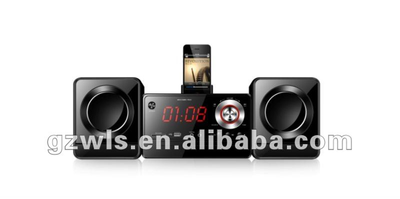 hot selling radio cd player combo with iphone docking