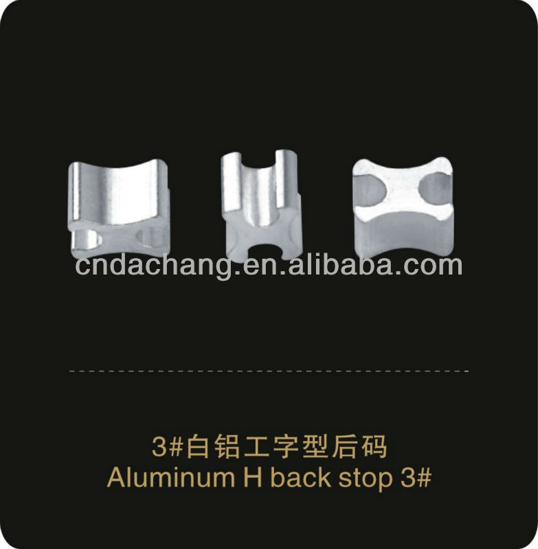Aluminum H Bottom Stopper No.3 zipper garment accessories zipper wire stopper for garment