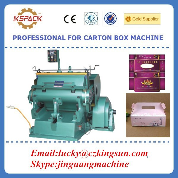 carton box making machine /Semi-automatic Platen punching paperboard die cutter machinery