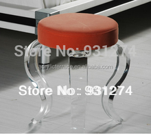 waterfall round perspex vanity stool with cushion acrylic terrace furniture