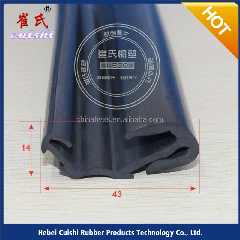 Cars tape EPDMextruded rubber flocking seal strip for bus