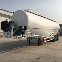 Chinese hot sale brand new 40m3 bulk cement powder tank semi trailer for sale with low price